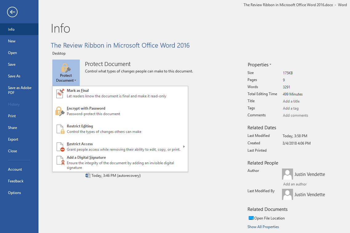 The Review Ribbon in Microsoft Office Word 2016 - Qwerty